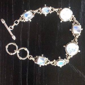 Artisan 925 Sterling Silver and Moonstone Bracelet